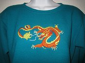 Long Dragon on sweatshirt