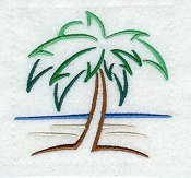 Palm Tree/beach scene