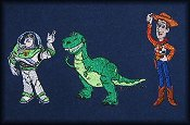 Toy Story--Buzz, TRex, Woody